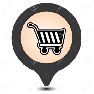 36465524-Black-Map-Pointer-With-Shopping-Cart-Shopping-Plaza-Market-Place-or-Bazaar-Icon-Isolated-on-White-Ba-Stock-Photo